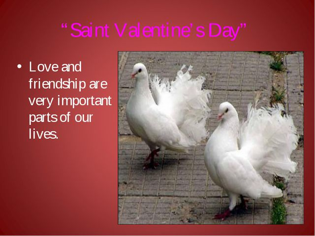 """""""Saint Valentine's Day"""" Love and friendship are very important parts of our l..."""