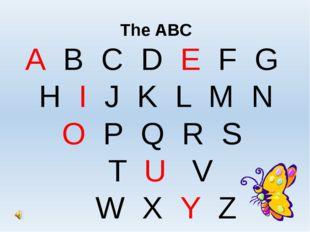The ABC A B C D E F G H I J K L M N O P Q R S T U V W X Y Z