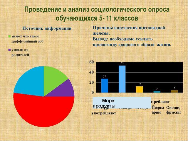 Проведение и анализ социологического опроса обучающихся 5- 11 классов Причины...