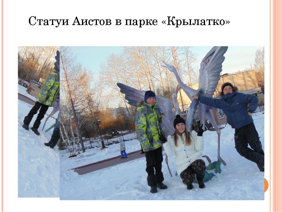 Статуи Аистов в парке «Крылатко»