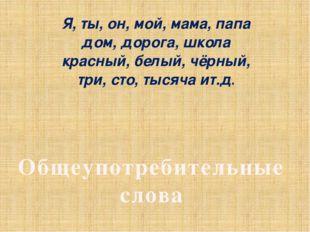 Я, ты, он, мой, мама, папа дом, дорога, школа красный, белый, чёрный, три, ст