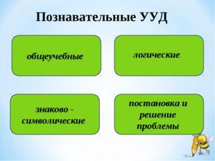 Познавательные УУД общеучебные знаково - символические постановка и решение п