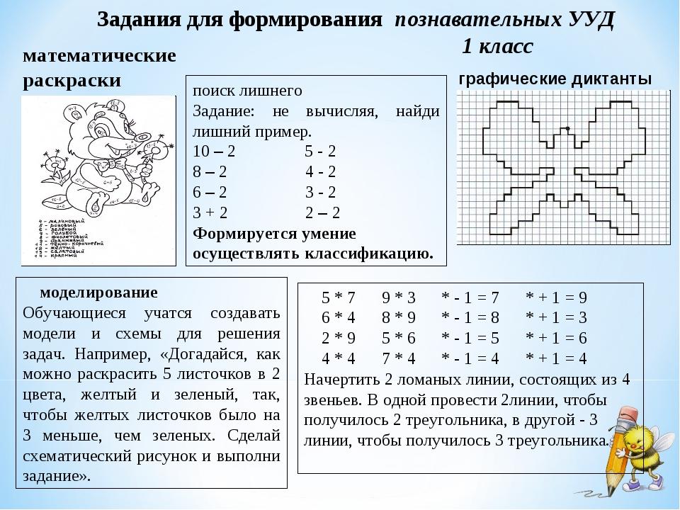 математические раскраски графические диктанты поиск лишнего Задание: не вычис...