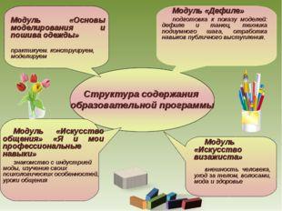 Модуль «Основы моделирования и пошива одежды» практикуем. конструируем, моде