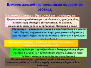 Коррекционно-развивающую - развитие и коррекция всех психических функций (вос