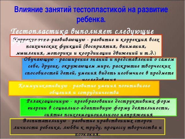 Коррекционно-развивающую - развитие и коррекция всех психических функций (вос...