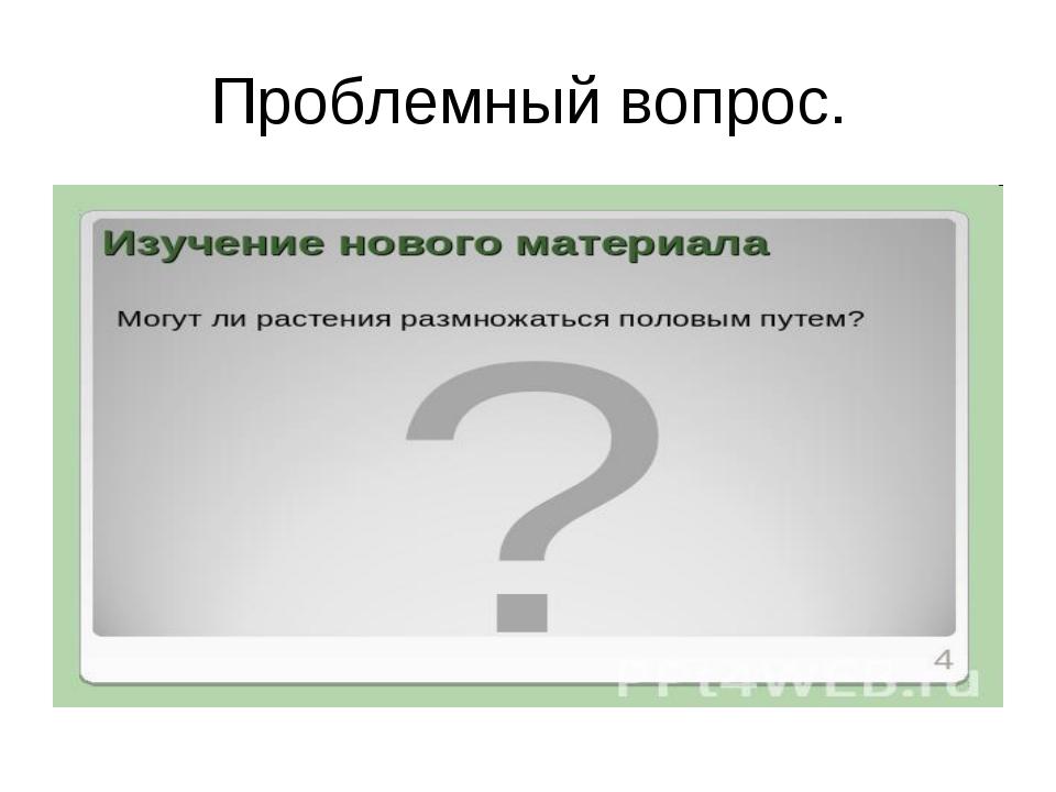 Проблемный вопрос.