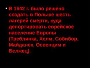 Немецкие концентрационные лагеря и лагеря смерти 1939 – 1945 гг. в границах т