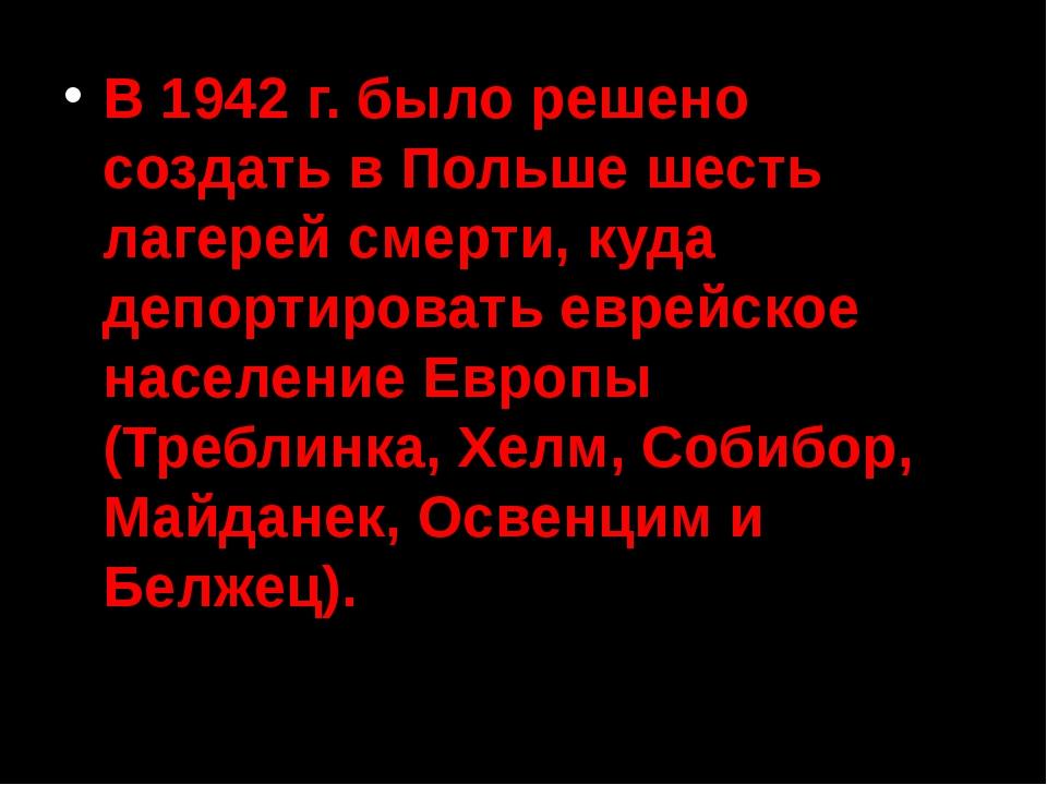 Немецкие концентрационные лагеря и лагеря смерти 1939 – 1945 гг. в границах т...