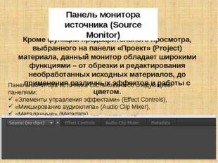 Панель программного монитора Данный монитор предназначен для контроля и просм