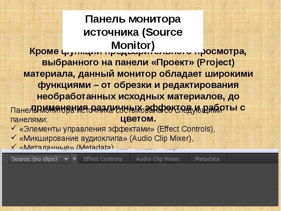 Панель программного монитора Данный монитор предназначен для контроля и просм...