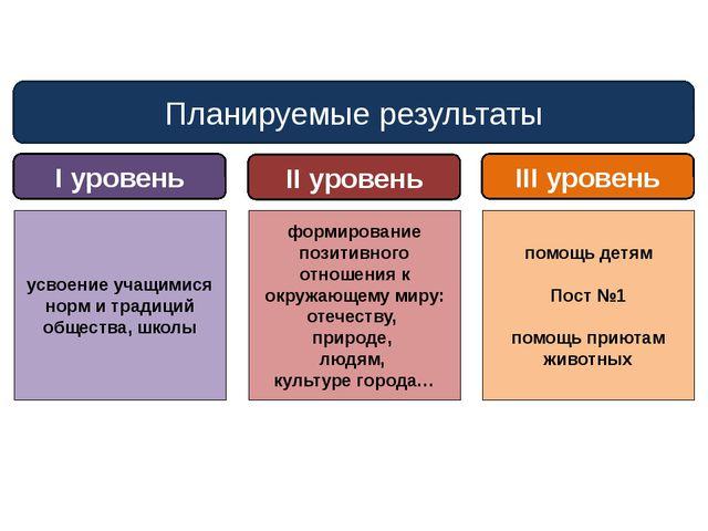 Планируемые результаты I уровень II уровень III уровень усвоение учащимися но...