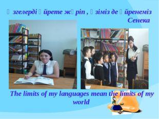 The limits of my languages mean the limits of my world Өзгелерді үйрете жүріп