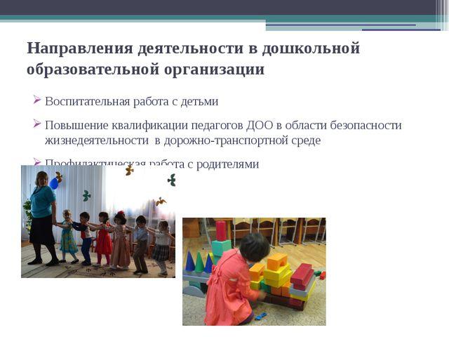 Направления деятельности в дошкольной образовательной организации Воспитатель...