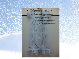 Мое готовое платье Снегурочки
