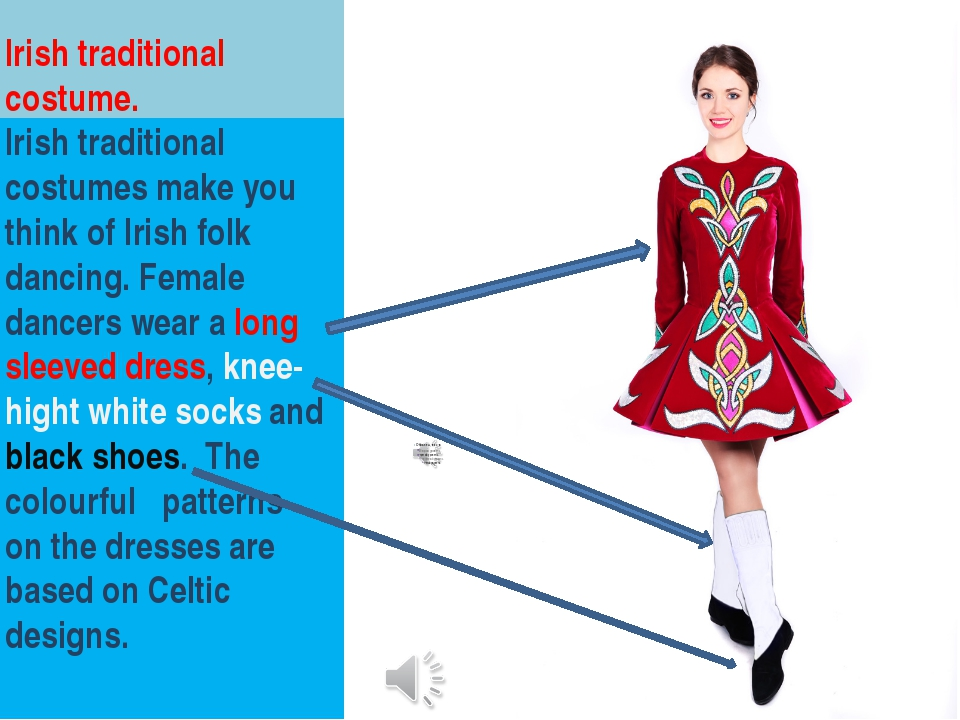 Irish traditional costume. Irish traditional costumes make you think of Irish...