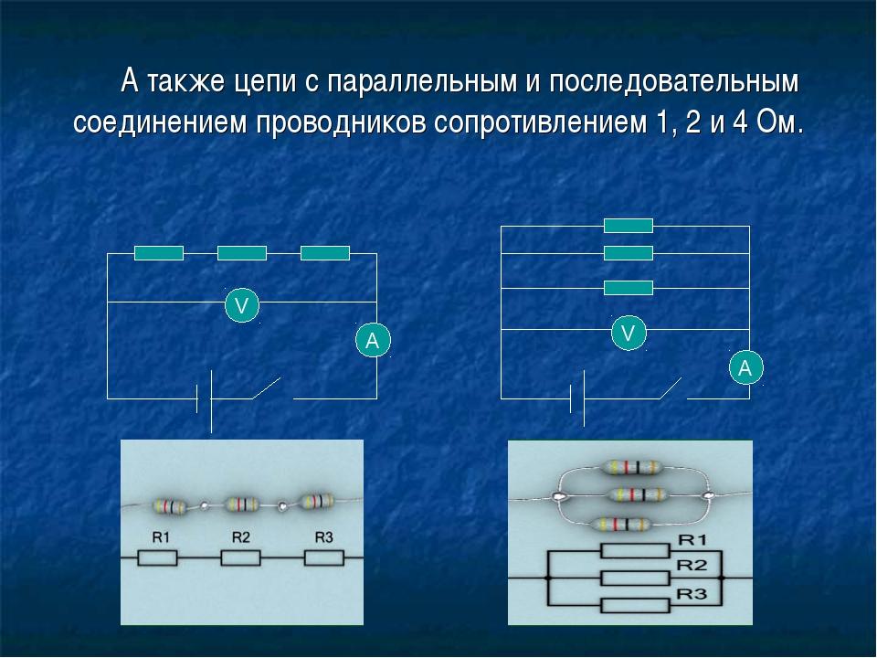 А также цепи с параллельным и последовательным соединением проводников сопро...