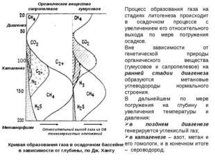Процесс образования газа на стадиях литогенеза происходит в осадочном процесс