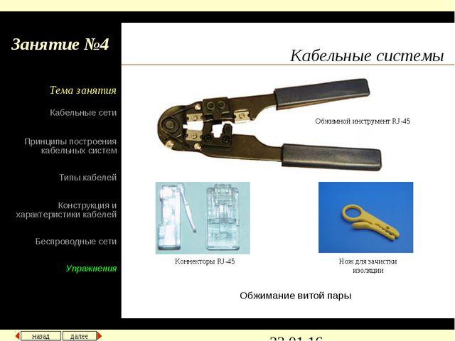 Кабельные системы Обжимание витой пары Обжимной инструмент RJ-45 Коннекторы R...