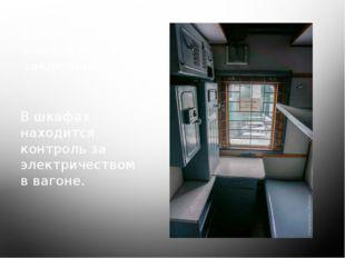 Купе проводников поезда с заключёнными. В шкафах находится контроль за электр