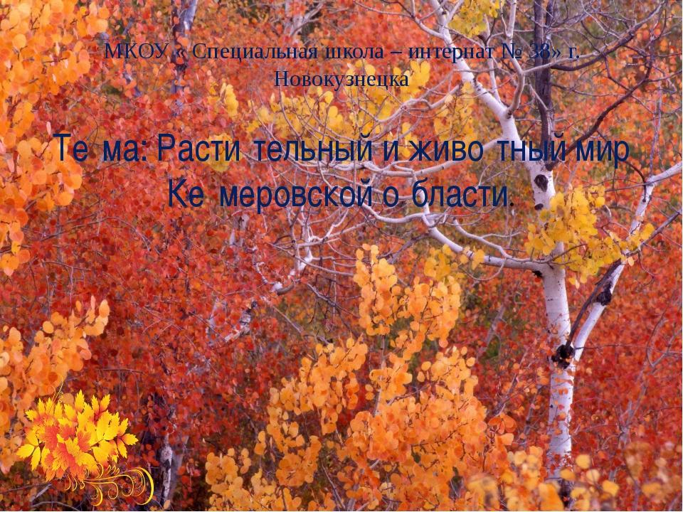 МКОУ « Специальная школа – интернат № 38» г. Новокузнецка Те́ма: Расти́тельны...