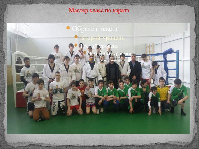 Мастер класс по каратэ