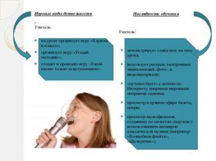 Наглядность обучения Наглядность обучения Учитель: демонстрирует слайд-шоу