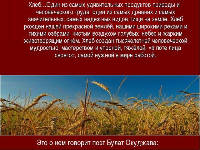 Хлеб…Один из самых удивительных продуктов природы и человеческого труда, оди...