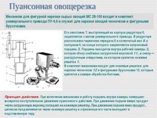 Механизм для фигурной нарезки сырых овощей МС 28-100 входит в комплект универ