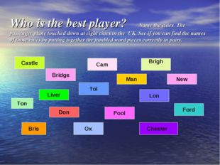 Who is the best player? Name the cities. The passenger plane touched down at