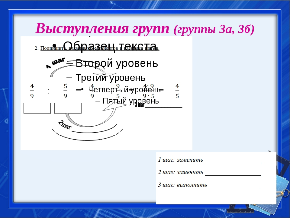 Выступления групп (группы 3а, 3б)