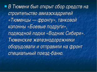 В Тюмени был открыт сбор средств на строительство авиаэскадрилей «Тюменцы — ф