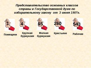 1 4 65 260 543 Помещики Крупная буржуазия Мелкая буржуазия Рабочие Крестьяне