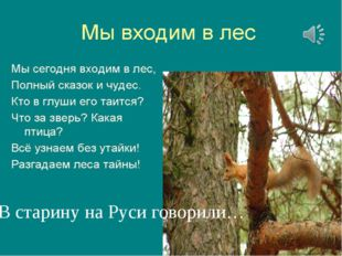 В старину на Руси говорили…
