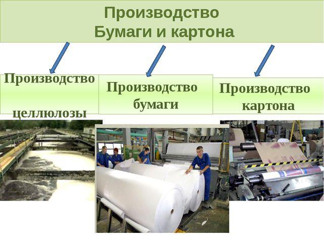 Производство Бумаги и картона Производство целлюлозы Производство картона Про...