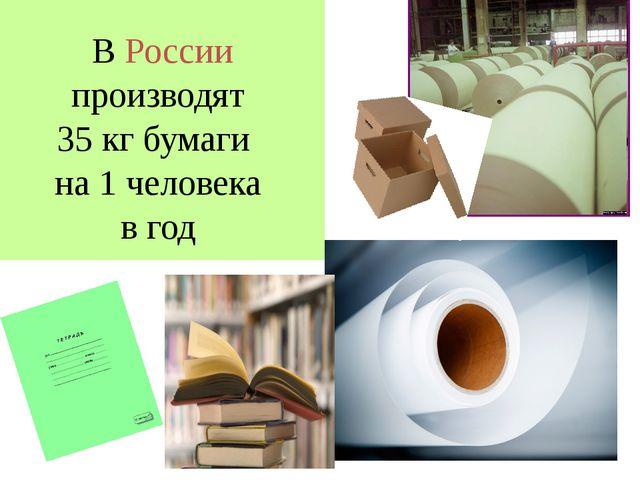 © Vasilyeva E.A. В России производят 35 кг бумаги на 1 человека в год