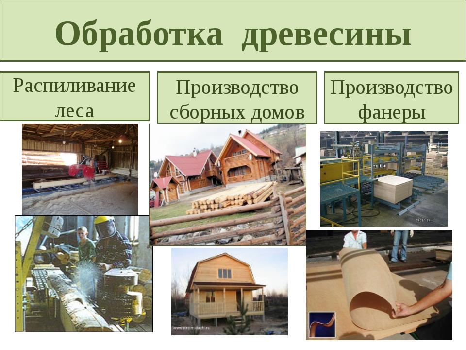 Обработка древесины Распиливание леса Производство сборных домов Производство...