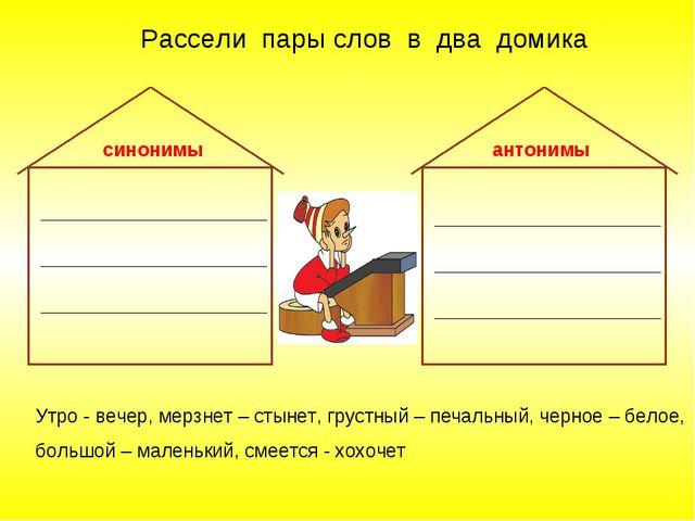 Синонимы и антонимы 2 класс презентация