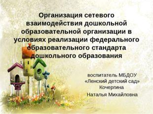 Организация сетевого взаимодействия дошкольной образовательной организации в