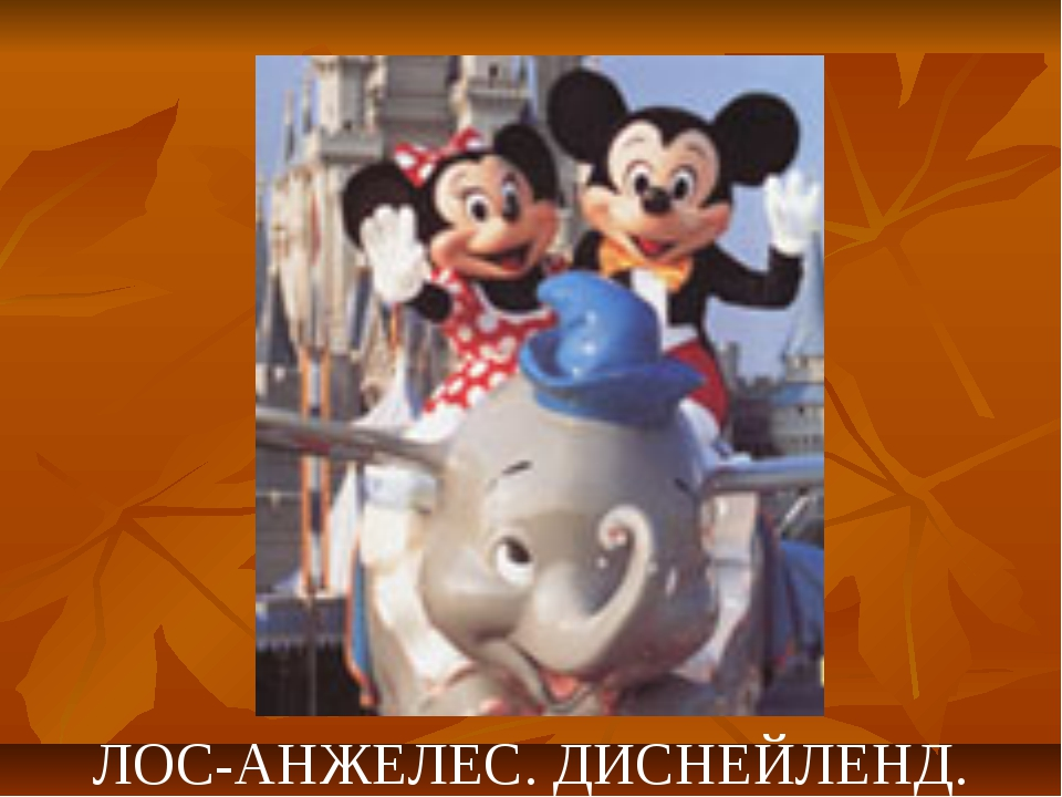 ЛОС-АНЖЕЛЕС. ДИСНЕЙЛЕНД.