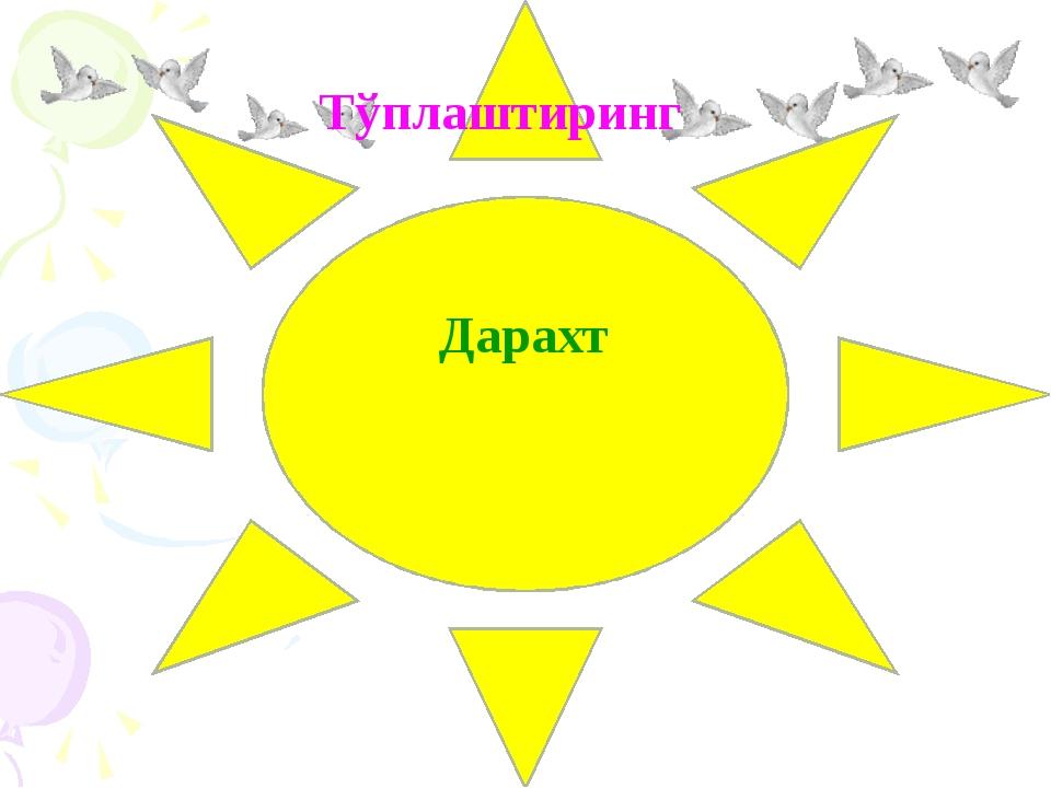 Тўплаштиринг Дарахт