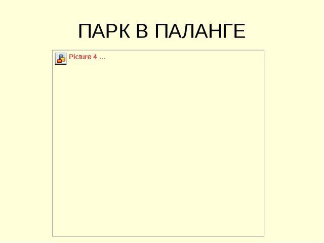 ПАРК В ПАЛАНГЕ