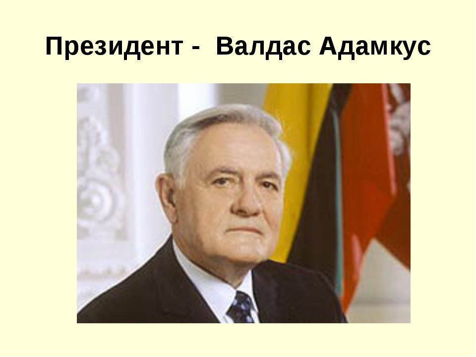 Президент - Валдас Адамкус