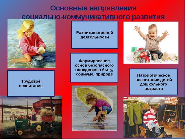 Развитие игровой деятельности Формирование основ безопасного поведения в быту...