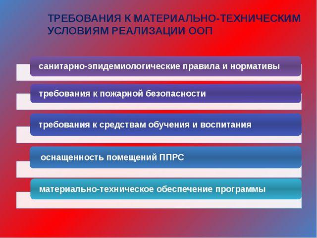 ТРЕБОВАНИЯ К МАТЕРИАЛЬНО-ТЕХНИЧЕСКИМ УСЛОВИЯМ РЕАЛИЗАЦИИ ООП