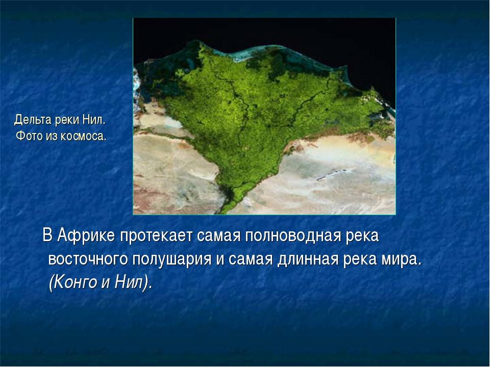Дельта реки Нил. Фото из космоса. В Африке протекает самая полноводная река в...