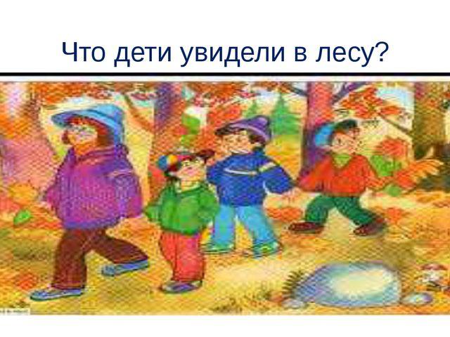 Что дети увидели в лесу?