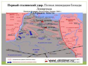 Первый сталинский удар.Полная ликвидация блокады Ленинграда