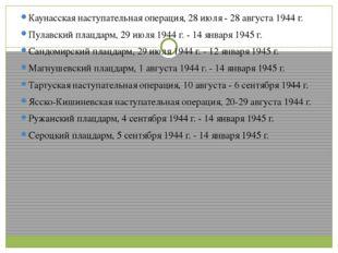 Каунасская наступательная операция, 28 июля - 28 августа 1944 г. Пулавский п