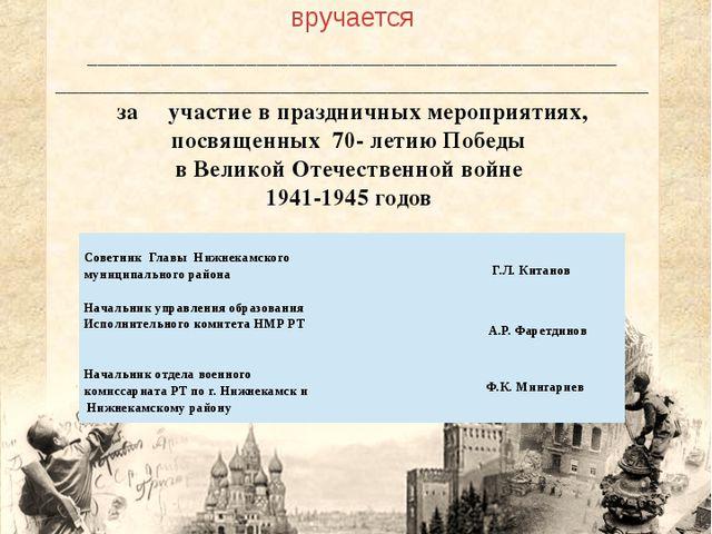 Администрация Нижнекамского муниципального района Республики Татарстан Управ...